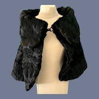 Antique Doll Stole Fur Fancy W/ Collar