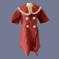 Wonderful Old Doll Swing Coat Double Breast Fancy Collar