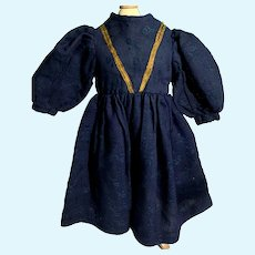 Gorgeous Doll Dress Old Hand Made Gold Metal Thread Covered Buttons French Market