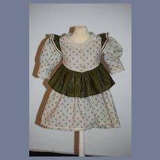 Wonderful Doll Dress Fancy Trim and Ruffle