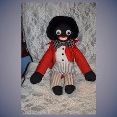 Vintage Doll English Golliwog Black Cloth Doll