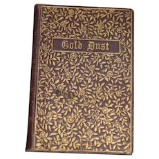 Antique Miniature Book Gold Dust Hard Cover