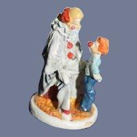 Miniature Goebel Olszewski Clown and Boy Figurine Dollhouse in Box