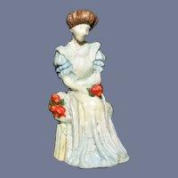Vintage Goebel Miniature Olszewski Figurine Lady with Apples Dollhouse