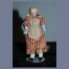 Antique Doll China Head Miniature Dollhouse Blonde