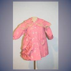 Old Doll Coat and Bonnet Wonderful Swing Coat W/ Pleats