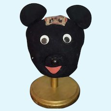 Old Mouseketeers Mask Hat  Googly Eyes W/Old Club Tag
