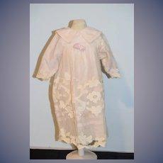 Wonderful Old Doll Dress Fab Lace Overlay