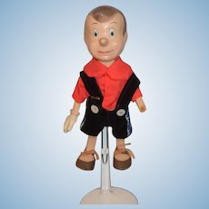 Old Doll Pinocchio Composition Jointed W. Disney Productions