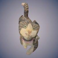 Vintage Artist Cat Vergie Lightfoot Stuffed Animal