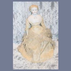 Antique Doll Gorgeous Parian W/ Molded Shoulder Plate