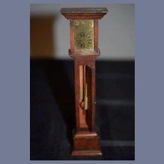 Wonderful Doll Miniature Grandfather Clock Moving Parts Dollhouse