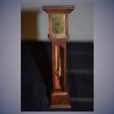 Wonderful Doll Miniature Grandfather Clock Moving Parts Dollhouse