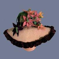 Vintage Doll Artist Bonnet Hat Doll Creations By Lillian Hope