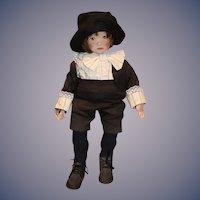 "Wonderful Nancy Latham Artist Doll Oil Cloth 22"" Tall"