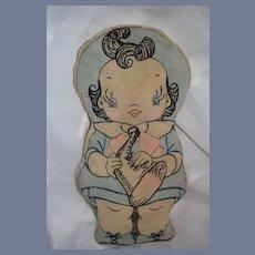 Old Cloth Doll Rag Doll Little Boy Blue Nursery Rhyme Sewn Features