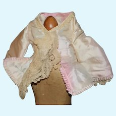 FAB Doll Two Piece Set Dress Jacket Skirt For Fashion Doll Old Lace Hand Made Alva Banks