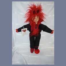 Wonderful Vintage Artist Doll Original Dresdner Kunstlerpuppen Jester W/ Tag Cloth Doll Character