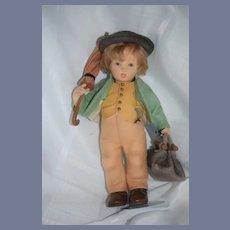 R. John Wright Doll in Original Box Merry Wanderer Mint in Box M.J. Hummel