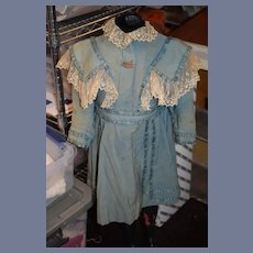 Wonderful Antique Doll Dress for French Doll Petite