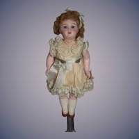 Antique French Miniature Doll Dollhouse Glass Eyes Sweet