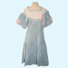 Old Doll Dress Lace Top Sweet Tie Back
