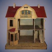 Antique Gottschalk Dollhouse Red Roof Need a Little TLC Wonderful