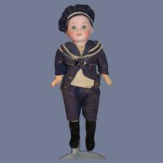Antique Doll Bisque Miniature Dollhouse Original Soldier Costume