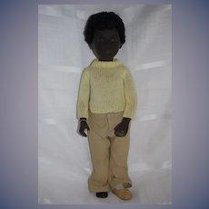 "Vintage Sasha Caleb Black Doll 16"" Tall Hard to Find Fully Dressed W/ String Tag"