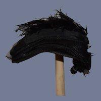 Wonderful Old Doll Hat Feathers Tassel Balls Fancy