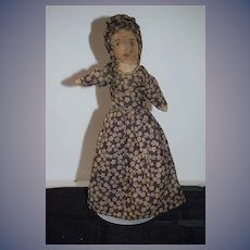 Antique Doll Old Topsy Turvy Black Cloth Doll White Cloth Doll