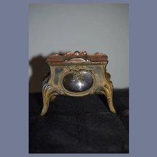 Wonderful Old Miniature Casket Trinket Box Doll Cabinet Dollhouse French Depose