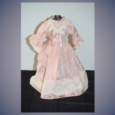 Vintage Gorgeous Hand Made Doll Dress Fashion Doll