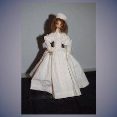 Wonderful Corn Husk Doll Angel of Mercy # 109 Grandma Ila Caster Signed Vintage