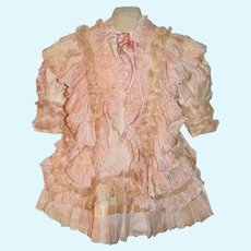 Fab Doll Dress Made W/ Antique Material French Market Fab Lace