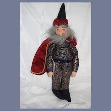 Wonderful Vintage Artist Doll Original Dresdner Kunstlerpuppen Wizard W/ Tag Cloth Doll Character