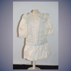 Sweet Vintage Doll Dress French Market Drop Waist Gorgeous Trim Covered Buttons