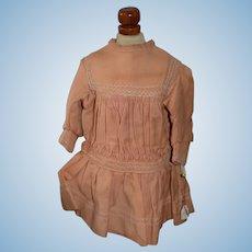Antique Doll Dress Original French BeBe Dress Sweet