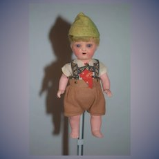 Antique Doll Heubach Koppelsdorf Bisque Doll in Factory Clothing