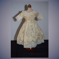 Vintage Doll Dress For Petite Doll Fancy Lace