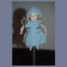 Antique Doll All Miniature Bisque Dollhouse