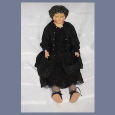 Antique  Doll Papier Mache Paper Mache Large: