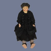 Antique  Doll Papier Mache Paper Mache Large: