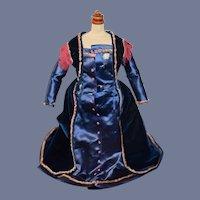 Old Doll Dress Silk Fringe Velvet Fashion Doll