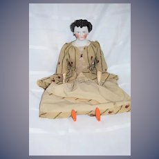 Antique Doll China Head Countess Dagmar Fab hair Style Wood Limbs Gorgeous Award Winner