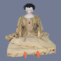 Antique Doll China Head Countess Dagmar Fab hair Style Wood Limbs Gorgeous Award Winner