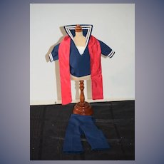 Vintage Doll or Bear Sailor Outfit Two Piece set