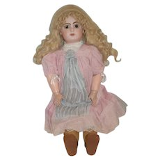 Antique Doll French Bisque Closed Mouth Emile Jumeau