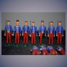 Vintage Old Wood Erzebirge Soldiers HUGE Lot Miniatures German Dollhouse