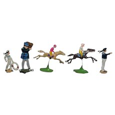 Old Metal Figures Miniature Horse & Jockey Soldier Sailors